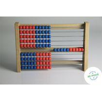 Rechenrahmen 100er-Zahlenraum rot/blau