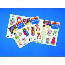 Schreiber-Bogen Ankleide-Puppen, Set 1
