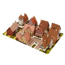 Schreiber-Bogen Dorf mit Fachwerkhäusern, 1:160