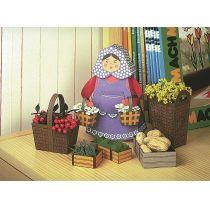 Schreiber-Bogen Marktfrau mit Körben