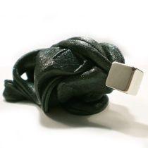 Schwarze ferromagnetische Knete + Magnet