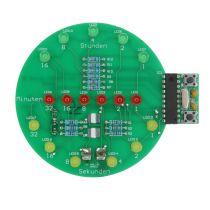 SOL-EXPERT Binäre Uhr, Lötbausatz für USB (Powerbank oder Port)