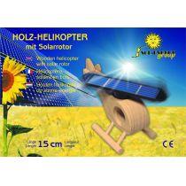 SOL-EXPERT Holz-Hubschrauber mit großem Solarrotor