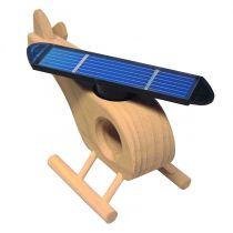 SOL-EXPERT Holz-Hubschrauber mit kleinem Solarrotor