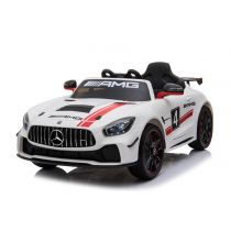 "Elektro Auto ""Mercedes AMG GT4"" - Lizenziert - 12V4,5AH, 2 Motoren- 2,4Ghz Fernsteuerung, MP3, Leder"