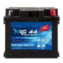 NRG Premium Autobatterie 12V 44Ah ersetzt 40AH 41AH 43AH 45AH 46AH 48AH 50AH