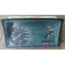 Armaturen Einsatz VW Polo 86 C .2 / Derby 2 Display weiß 200 km/h Tacho / Tank Anzeige / Temp. 867919033 A BH