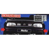 NEU + Blinker / Blinklicht / Blinkleuchten VW Golf 3 / Vento 1H0 schwarz - Rauchfarbe / Satz mit Blenden - VAG