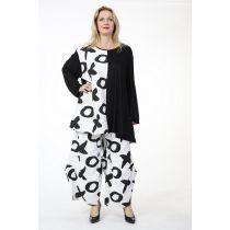 ausgefallene weiß-schwarze Lagenlook Hosen