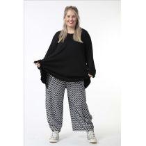 Damen Hosen schwarz-weiß schimmernd