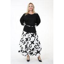 weiß-schwarze Lagenlook Ballon-Röcke verwandelbar