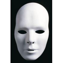 Herrenmaske - Ganzmaske - weiß - neutral