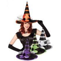 Hexenhut (Erwachsene) spitzer Hut - Karneval Fasching Halloween