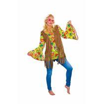 Hippie Weste für Damen - braun -Gr. XL