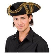 Hut - Dreispitz - Piratenhut - für Erwachsene - Karneval - Fasching
