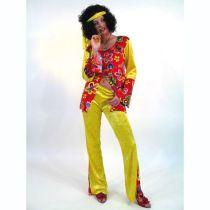 Kostüm - Hippie - Damenkostüm mit Schlaghose Gr. 40/42 - SONDERPREIS