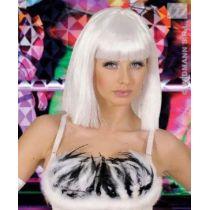 Perücke Showgirl weiss - Karneval Fasching Halloween - für Erwachsene