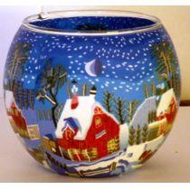 Kerzenfarm Leuchtglas Winternight in Canada, 11 cm, Teelicht