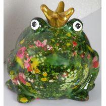 Pomme Pidou Spardose Wiesenserie, Frosch mit Blumenwiese