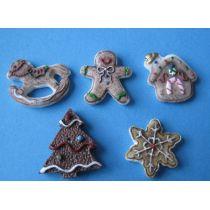 5 Pfefferkuchen Weihnachten Puppenhaus Dekoration Miniatur 1:12
