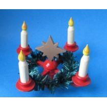 Adventskranz Stern Kerzen Puppenhaus Miniatur 1:12 Erzgebirge