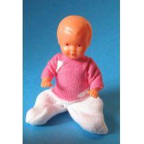 Baby Junge Puppe 6 cm für  Puppenstube
