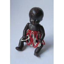Baby Puppe 6 cm farbig  für die Puppenstube  Miniaturen Schwenk