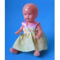 Baby Puppe 6 cm für die Puppenstube