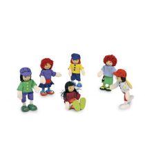 Biegepuppen 6 Freunde für das Puppenhaus