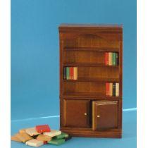 Bücherschrank braun  Puppenhaus Möbel Miniaturen 1:12