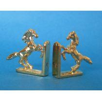 Buchstuetzen Pferde Metall Puppenhaus Dekoration Miniatur 1:12