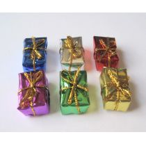 Bunte Geschenke Päckchen 6 Stück Puppenhausdeko Miniatur 1:12