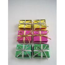 Bunte Geschenke Päckchen gross 6 Stück Puppenhausdeko Miniatur 1:12