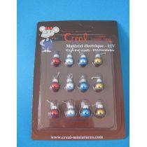 Christbaumkugeln 12 Stück Puppenhaus Weihnachten Miniaturen 1:12