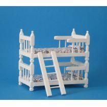 Doppelstockbett für Puppenhaus Kinderzimmer Möbel 1:12