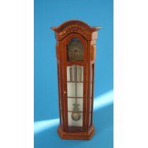 Edle Standuhr braun Louis Philippe Puppenhaus Miniatur 1:12