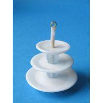 Etagere 3 Etagen für Gebäck Puppenstuben Dekoration Miniatur 1:12