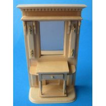 Flurgarderobe Dielen Schrank Puppenhausmöbel Miniaturen 1:12