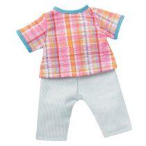 Fröhlicher Sommeranzug bunt kariert Kleidung für 24-26 cm Puppen