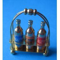 Getränke Bar mit 3 Flaschen Puppenhaus Dekoration Miniatur 1:12
