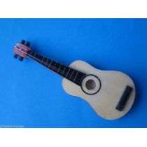 Gitarre braun Puppenhaus Dekoration Miniaturen 1:12