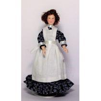 Hausmädchen Magd Personal für Puppenstube Miniatur 1:12