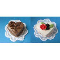 Herztorte Sahnetorte Hochzeit Puppenhaus Dekoration Miniatur 1:12