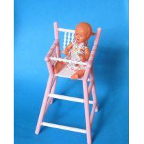 Hochstuhl mit Puppe  Puppenhausmöbel  Schwenk