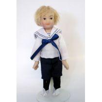 Junge im Matrosen Anzug  Puppe  Miniatur 1:12