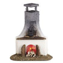 Kamin mit Ofenstelle beleuchtet Puppenhausmöbel Miniaturen