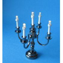Kerzenstaender Leuchter 5-armig LED Puppenhaus Miniatur 1:12