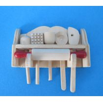 Küchenutensilien aus Holz 7teilig Puppenhaus Miniaturen 1:12