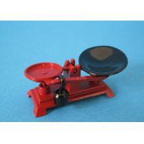 Küchenwaage rot Puppenhaus Küchen Miniaturen 1:12