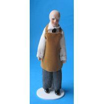 Ladenbesitzer Hausmeister Opa Puppe für Puppenhaus Miniatur 1:12